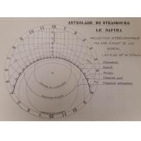 Schéma de l'astrolabe de Strasbourg