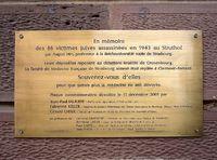 Mémorial des victimes des recherches racistes d'August Hirt à l'Institut d'anatomie de la Reichsuniversität Straßburg